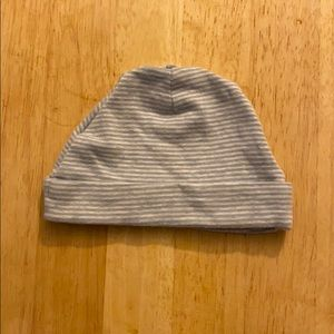 Blue and White Striped Infant Hat